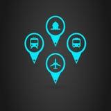 Ícones dos transportes Foto de Stock Royalty Free