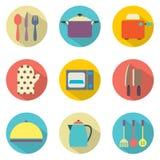 Ícones dos utensílios Imagens de Stock