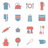 Ícones dos utensílios ilustração stock