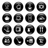 Ícones dos utensílios da cozinha Foto de Stock Royalty Free