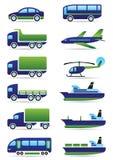 Ícones dos veículos ajustados ilustração stock