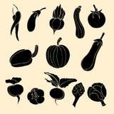 Ícones dos vegetais Imagem de Stock Royalty Free