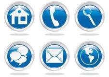 ícones e botões Foto de Stock