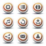 Ícones e botões do sinal de estrada para o jogo de Ui Imagem de Stock