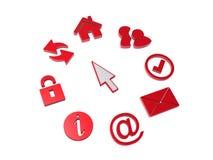 Ícones e cursor Imagens de Stock Royalty Free