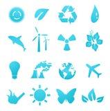 Ícones e elementos ambientais do projeto ilustração do vetor