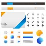 Ícones e elementos do Web site Fotografia de Stock
