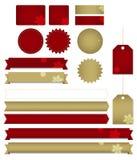 Ícones e etiquetas festivos Imagens de Stock Royalty Free