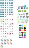 Ícones e gráficos Imagem de Stock Royalty Free