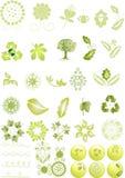 Ícones e gráficos verdes ilustração stock
