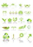 Ícones e gráficos verdes ilustração royalty free