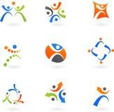 Ícones e logotipos humanos 2 ilustração royalty free