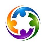 ícones e símbolos dos povos do sumário 3d Log do ícone dos povos da tecnologia ilustração stock