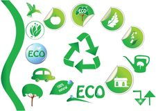Ícones ecológicos Foto de Stock