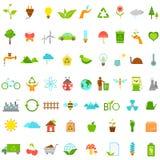 Ícones ecológicos e ambientais Imagens de Stock