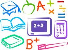 Ícones educacionais ilustração royalty free