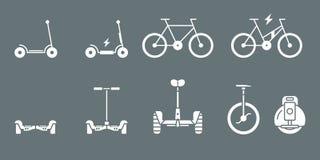 Ícones elétricos do transporte - Web do grupo e móbil 02 ilustração stock
