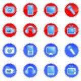 Ícones eletrônicos Imagens de Stock