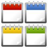 Ícones em branco do calendário ajustados ilustração stock