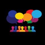 Ícones em linha dos povos na rede & em meios sociais - gráfico de vetor Imagens de Stock Royalty Free