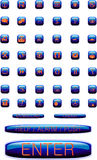 Ícones em teclas lustrosas Fotografia de Stock Royalty Free