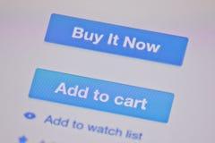 Ícones em um fundo branco Imagem de Stock