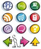 Ícones engraçados do Web Imagens de Stock