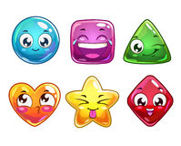 Ícones engraçados dos personagens de banda desenhada Foto de Stock Royalty Free