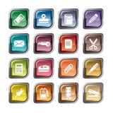 Ícones estacionários Imagem de Stock Royalty Free