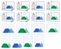Ícones da foto Fotos de Stock