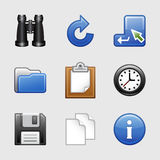 Ícones estilizados do Web, jogo 03 Fotografia de Stock