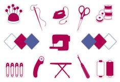 ícones estofando de +EPS Imagens de Stock