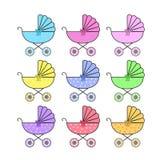 Ícones, etiquetas acessíveis nas cores diferentes EPS ilustração royalty free