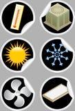 Ícones/etiquetas do condicionador de ar Fotos de Stock