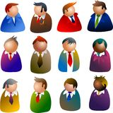 Ícones executivos Fotografia de Stock