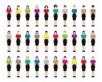 Ícones fêmeas da ocupação da mulher Fotos de Stock