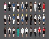 Ícones fêmeas da ocupação da mulher Imagens de Stock