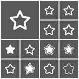 Ícones favoritos Imagem de Stock Royalty Free