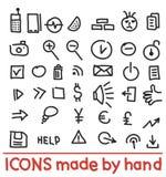 Ícones feitos à mão Fotos de Stock Royalty Free