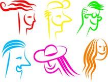 Ícones felizes da face Imagem de Stock Royalty Free