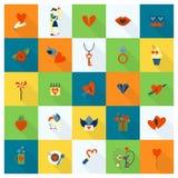 Ícones felizes do dia de Valentim Foto de Stock