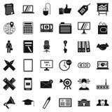 Ícones financeiros ajustados, estilo do simle Imagens de Stock