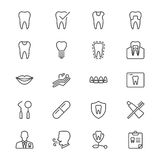 Ícones finos dentais Imagens de Stock