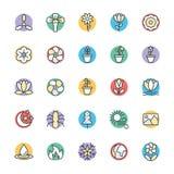 Ícones frescos 5 do vetor da natureza Imagem de Stock