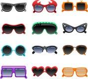 Ícones funky dos óculos de sol ilustração do vetor
