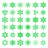 Ícones geométricos da estrela Imagens de Stock Royalty Free