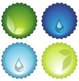 Ícones Glassy Imagens de Stock