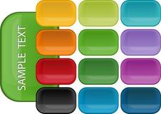 Ícones Glassy Fotografia de Stock