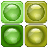 Ícones Glassy ajustados Imagem de Stock Royalty Free