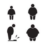 Ícones gordos do homem Imagem de Stock Royalty Free